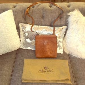 Brown/Tan Patricia Nash Leather Crossbody Bag